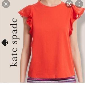 Kate Spade Broome Street Flutter Sleeve Blouse